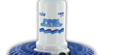 Rule H53SP-24 Marine Rule 1800 Pool Cover Pump with 24-Foot Cord/Wide Base (110-Volt, Colors may Vary)